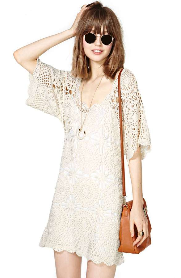 Nasty Gal Lucca Couture Crochet Shift Dress