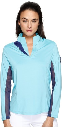 Jamie Sadock - Long Sleeve Top with Mesh Underarms Women's Clothing $95 thestylecure.com