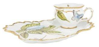 Anna Weatherley Hand-Painted Tea Cup & Snack Plate Saucer