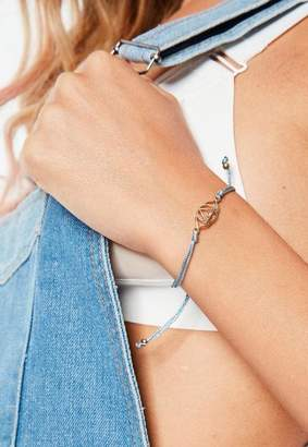 Missguided Blue Third Eye Shakra Bracelet