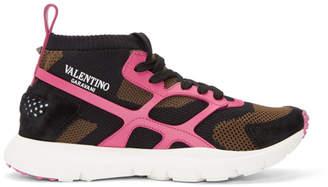 Valentino Multicolor Garavani Sound High-Top Sneakers