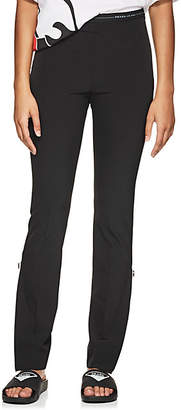 Prada Women's Logo-Waist Stretch-Twill Leggings - Black