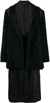 Comme des Garcons faux fur layered coat