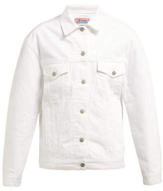 Acne Studios Oversized Denim Jacket - Womens - White