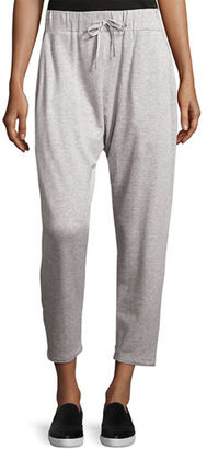 Eileen Fisher Drawstring Slouchy Fleece Pants $148 thestylecure.com