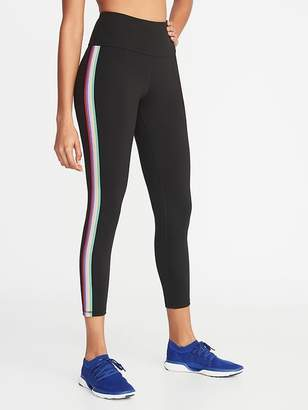 Old Navy High-Rise Elevate Side-Stripe 7/8-Length Compression Leggings for Women