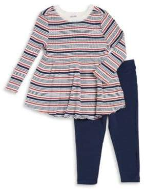 Splendid Baby Girl's Two-Piece Stripe Sweater & Leggings Set