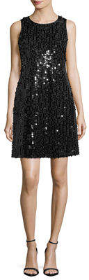 Taylor Sleeveless Sequin Shift Dress