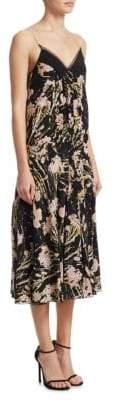N°21 Floral-Print Silk-Blend Slip Dress