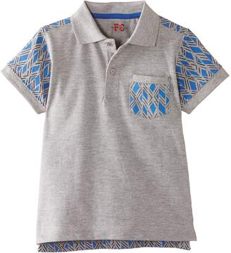 French Connection Boy's Back Print Polo Shirt