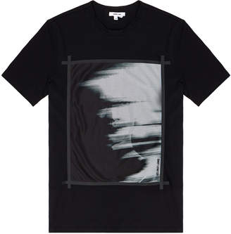 Helmut Lang Black Ghost Graphic Print T-Shirt