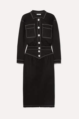 The Line By K - Jude Stretch-denim Dress - Black