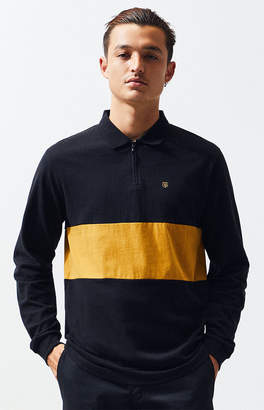Brixton Hunt Quarter Zip Long Sleeve Polo Shirt