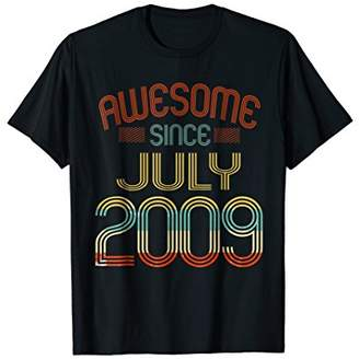 Awesome Since July 2009 T-Shirt Funny 9th Birthday Gift