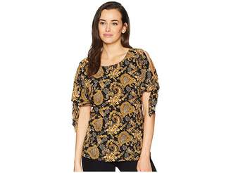 MICHAEL Michael Kors Sweetheart Paisley Top Women's Clothing