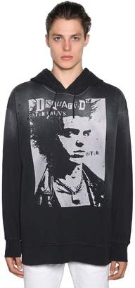 DSQUARED2 Oversized Printed Cotton Jersey Hoodie