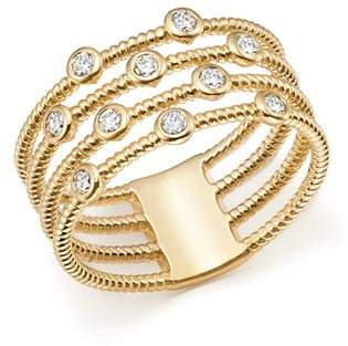 Bloomingdale's Diamond Multi-Row Ring in 14K Yellow Gold, 0.25 ct. t.w. - 100% Exclusive