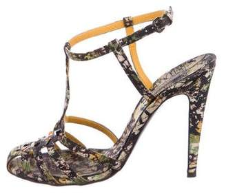 Bottega Veneta Printed Satin Sandals