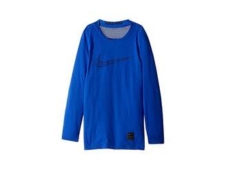 Nike Pro Fitted Long Sleeve Training Top (Little Kids/Big Kids)