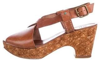 Henry Cuir Leather Platform Sandals