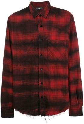 Amiri loose fit plaid shirt