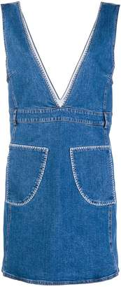 See by Chloe denim pinafore dress