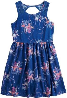 Mudd Girls 7-16 & Plus Size Crocheted Yoke Sleeveless Dress