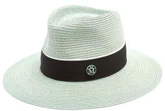 Maison Michel - Charles Straw Hat - Womens - Green