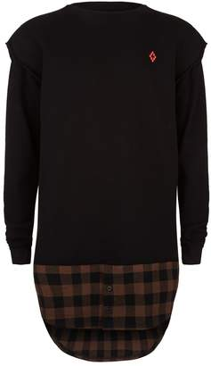 Marcelo Burlon County of Milan Plaid Trim Sweater