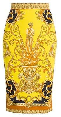 Versace Women's Femme Baroque Jersey Pencil Skirt