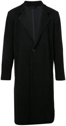 Issey Miyake Homme Plissé textured single-breasted coat