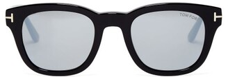 Tom Ford Square Frame Acetate Sunglasses - Womens - Black Brown