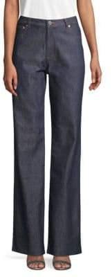 A.P.C. High-Waist Boot Leg Jeans
