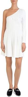 The Kooples One-Shoulder Studded Knit Dress