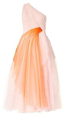 Carolina Herrera Women's Draped Tulle One-Shoulder Gown