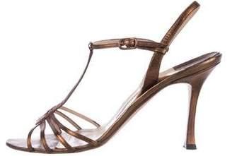 Manolo Blahnik Leather T-Straps Sandals