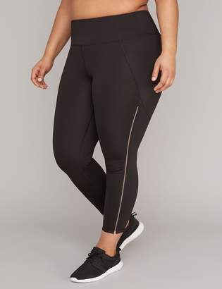 Lane Bryant Wicking Zip Inset Active 7/8 Legging