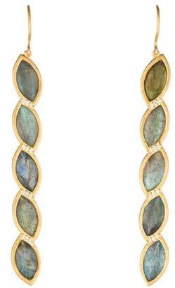 Jamie Wolf 18K Labradorite & Diamond Drop Earrings