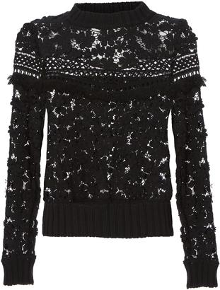 Sea 3D Lace Sweatshirt $395 thestylecure.com