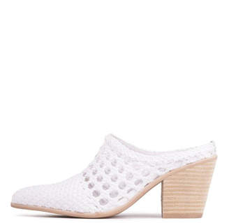 Jeffrey Campbell White Woven Mule