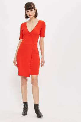 Topshop Tall Wrap Ponte Dress