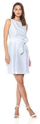 Anne Klein Women's Fit & Flare Dress with Sash