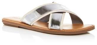 Toms Women's Viv Leather Crisscross Slide Sandals
