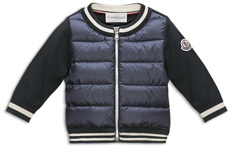 Moncler Infant Boys' Contrast Sleeve Down Jacket - Sizes 9-36 Months $195 thestylecure.com