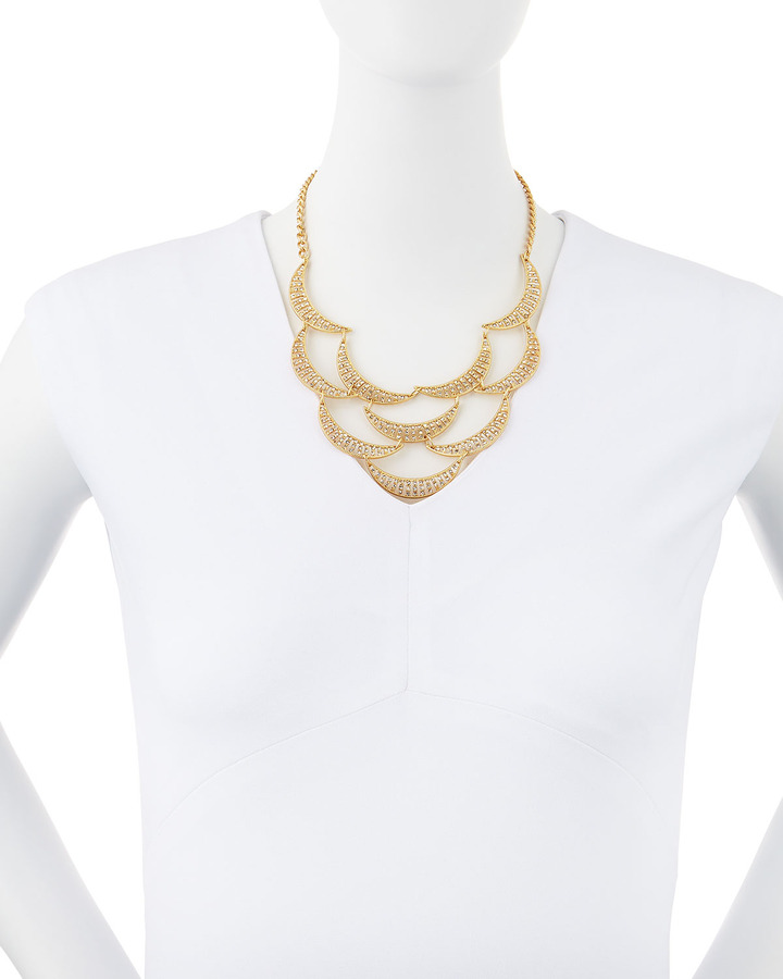 Fragments for Neiman Marcus Rhinestone-Crescent Bib Necklace