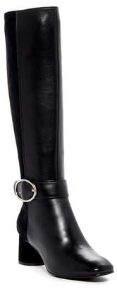 Donald J Pliner Caye Leather Heeled Buckle Boot