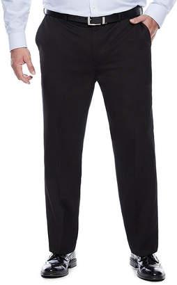 Savane Micro Mlange Flat-Front Dress Pants - Big & Tall