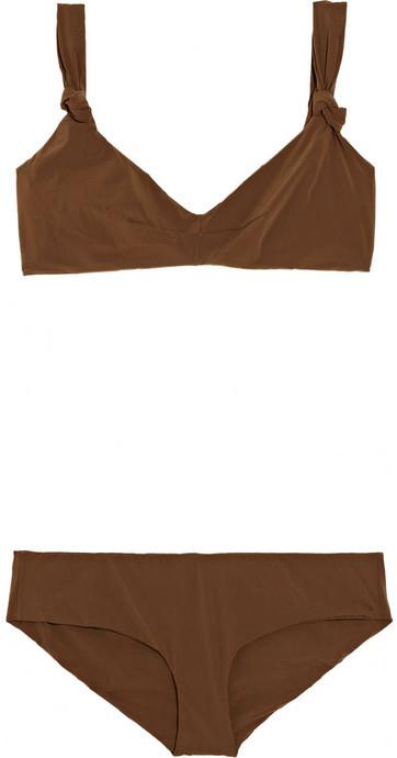 Marni Knotted-strap bikini