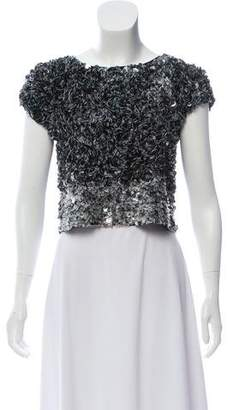 AllSaints Sequin Short Sleeve Top