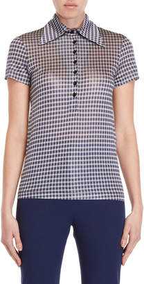 Ter Et Bantine Gingham Collared Shirt